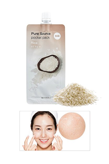 Missha Ölü Deri Arındırıcı Aydınlatıcı Pirinç Peelingi 10ml Pure Source Pocket Pack Rice