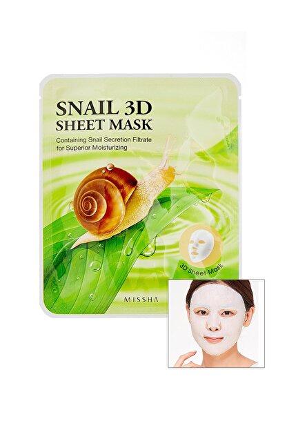 Missha Salyangoz Özlü Onarıcı Yaprak Maske (23g) Snail Healing 3D Sheet Mask