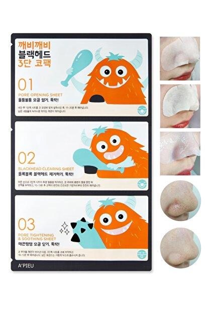 Missha Siyah Noktalar İçin 3 Aşamalı Burun Bandı APIEU Goblin Blackhead 3-Step Nose Pack