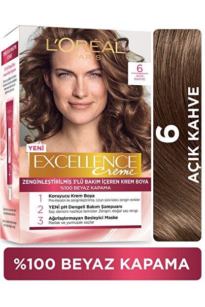 L'Oreal Paris Excellence Creme Saç Boyası - 6 Açık Kahve