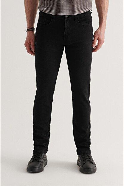 Avva Erkek Siyah Slim Fit Jean Pantolon A11y3701