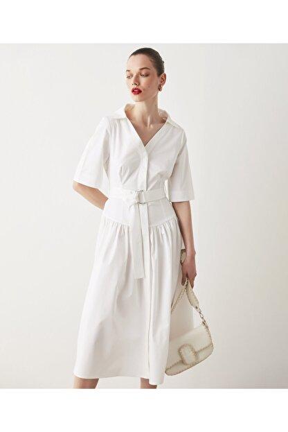 İpekyol Kuşaklı Poplin Elbise