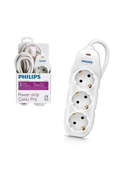 Philips Akım Korumalı Üçlü Priz 5 mt