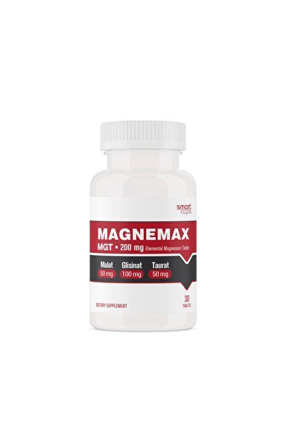 Smartcaps Magnemax Mgt 200 Mg Elementel Magne (Malat, Glisinat, Taurat)zyum