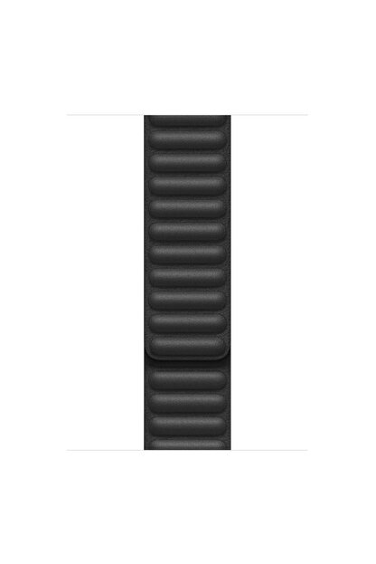 Apple Microsonic Watch Series 6 44 mm Leather Link Band Siyah Kordon