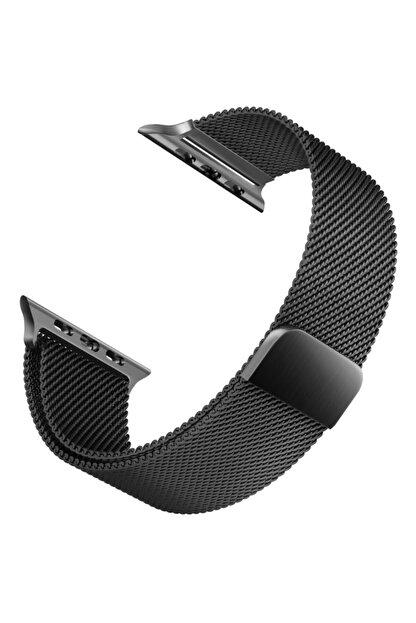 Apple Microsonic Watch 5 44mm Milanese Loop Version 3 Siyah Kordon
