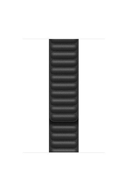 Apple Microsonic Watch Series 4 40mm Kordon Leather Link Band Siyah