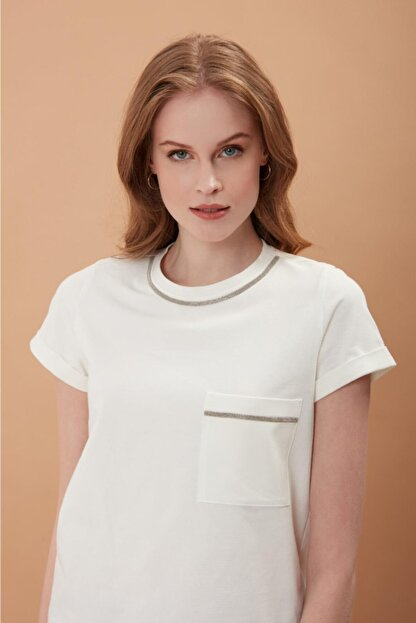 REGİNO Kadın Mılla Ekru   T-Shirt