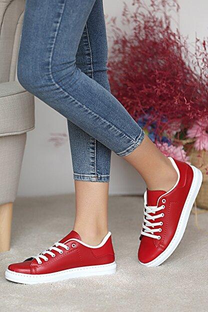 Pembe Potin Kadın Kırmızı Ayakkabı