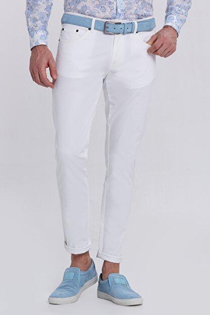 Hemington Erkek Beyaz Slim Fit 5 Cep Pantolon