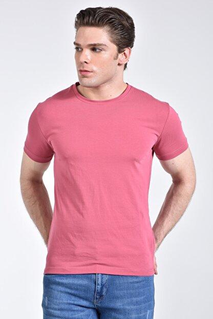 Rodi Jeans Rodi Rd21ye278610 Pembe Erkek Bisiklet Yaka Basic T-shirt