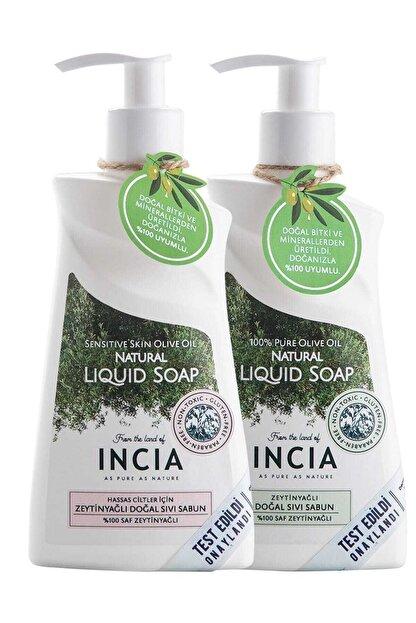 INCIA Incıa Hassas Ciltler Için Zeytinyağlı Doğal Sıvı Sabun Seti 2 Adet 250 ml 8681511099664