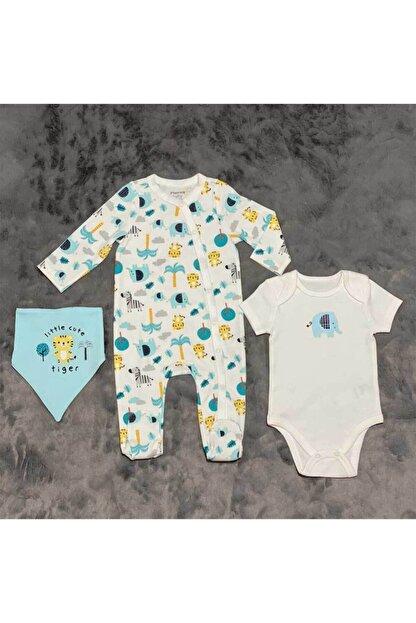 PİEROSBABY Pieros Baby 0016 Erkek Bebek 3'lü Takım