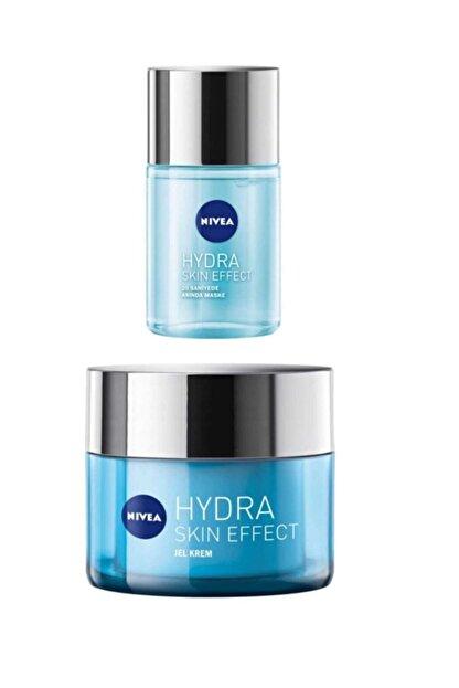 Nivea Cilt Bakım Seti Hydra Skin Effect 20 Saniyede Anında Maske + Hydra Skin Effect Jel Krem 50 ml