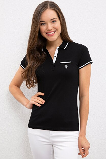 US Polo Assn Sıyah Kadın T-Shirt