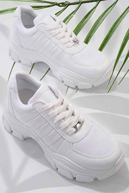 Bambi Beyaz Kadın Sneaker K01836001509