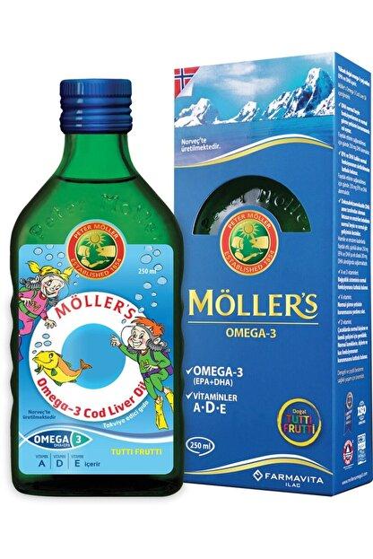 Mollers Tutti-frutti Aromalı Omega-3 Balık Yağı Şurubu 250 Ml