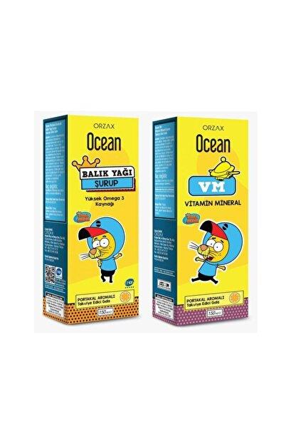 Orzax Ocean Plus Portakallı Balık Yağı 150 Ml - Vm Ikili Paket