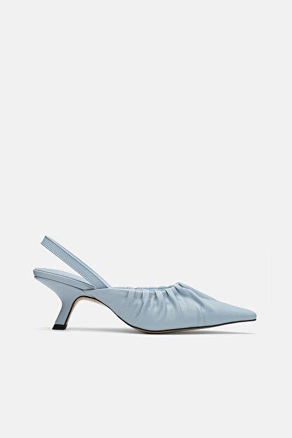 Jorbinol Kadın Mavi Topuklu Ayakkabı