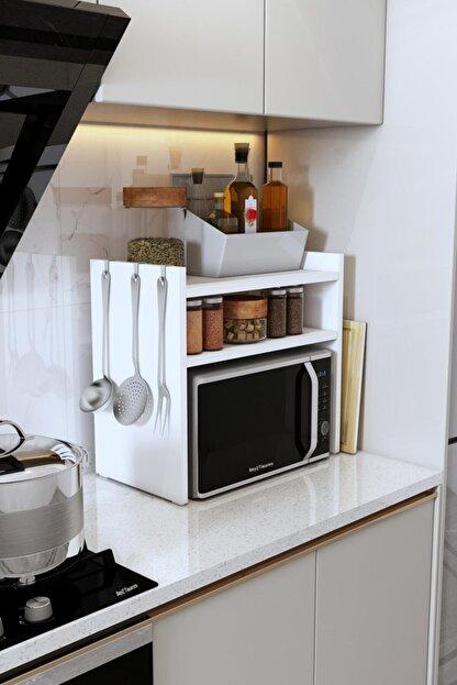 Bayz Tasarım Mikrodalga Fırın Standı Mutfak Tezgah Üstü Raf Dolap Düzenleyici Organizatör Toplayıcı
