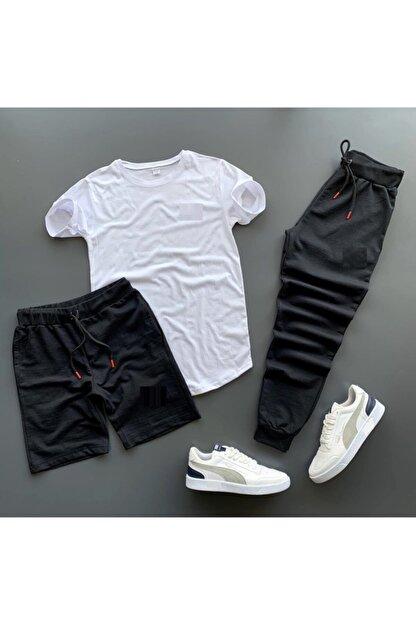 Lion Company Unisex Eşofman Şort Tshirt Set 3'lü