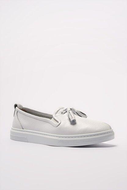 Elle Hakiki Deri Thayne Beyaz Kadın  Sneaker 20YEYB-24