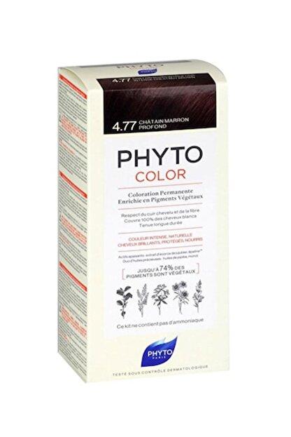 Phyto Color 4.77 - Yoğun Kestane Bakır (Bitkisel Saç Boyası) -
