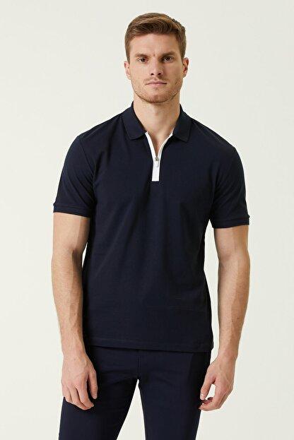 Network Erkek Slim Fit Lacivert Polo Yaka T-shirt 1078321