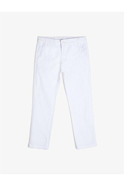 Koton Beyaz Erkek Çocuk Pantolon