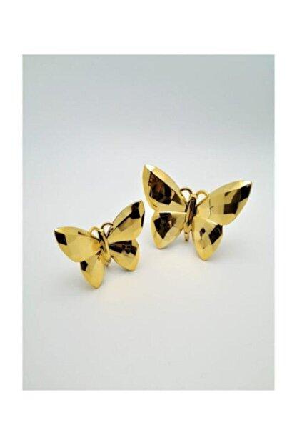 irayhomedecor Dekoratif Kelebek Biblo 2'li – Gold