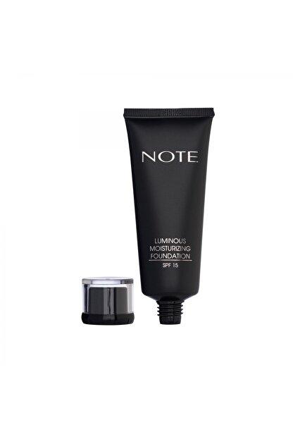 Note Cosmetics Luminous Moisturizing Fondöten 05 Honey Beige
