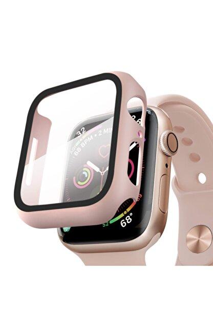 Apple Microsonic Watch Series 6 44mm Kılıf Matte Premium Slim Watchband Rose Gold