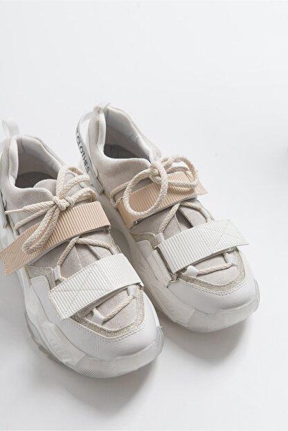 LuviShoes Beyaz Rugan Spor Ayakkabı 65140