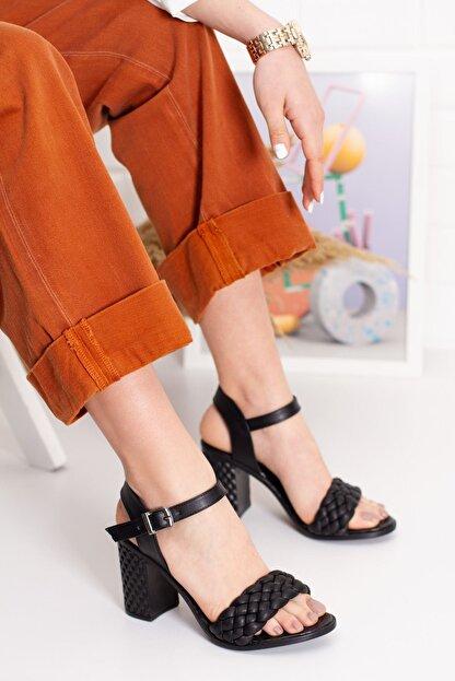 derithy Kadın Siyah Thames Topuklu Ayakkabı--hls0600