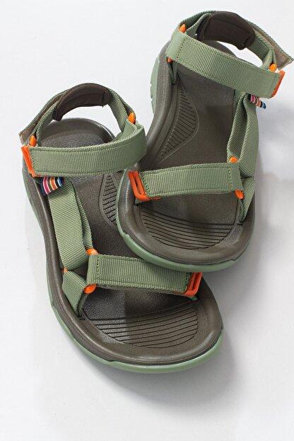 LuviShoes Kadın Haki Tekstil  Sandalet