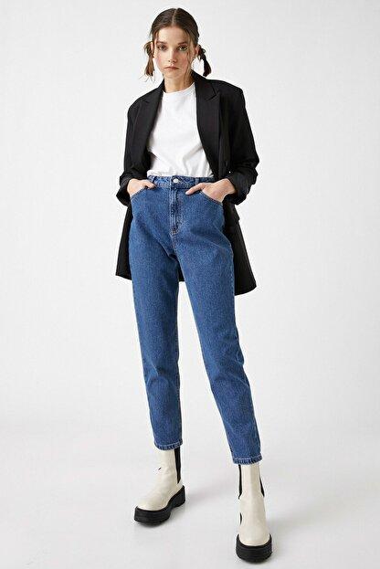 Koton Kadın Orta İndigo Jeans 1YAK47979MD