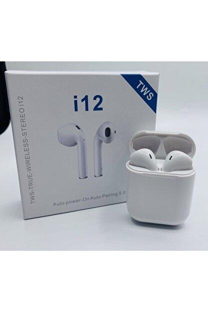 Tws Beyaz Bluetooth Kulaklık I12