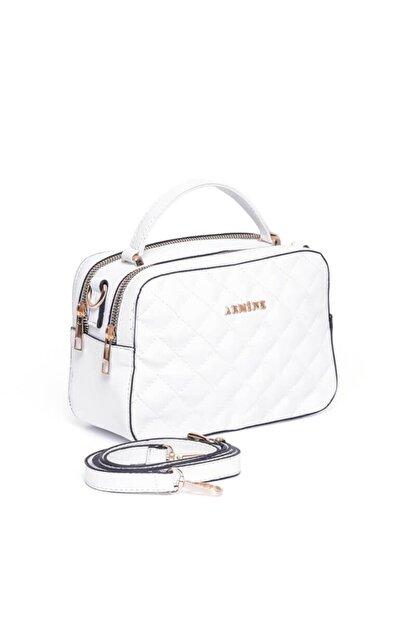 Armine Kadın Beyaz Ayarlanabilir Askılı Çanta
