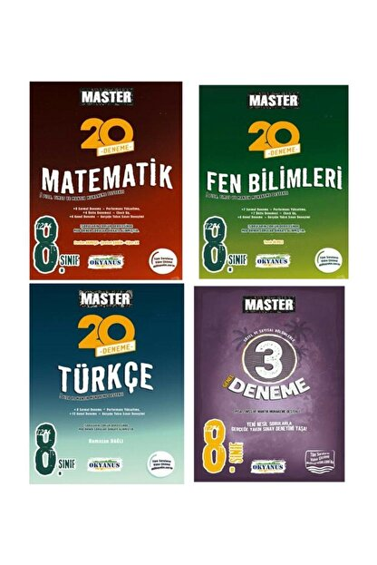 Okyanus Yayınları 8.sınıf Lgs Master Matematik Fen Türkçe 3 Deneme Seti