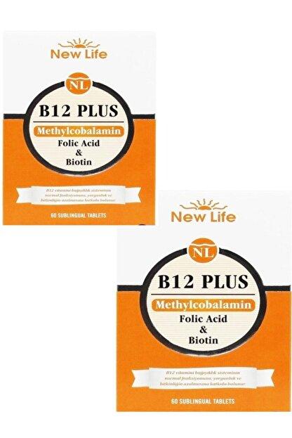 New Life B12 Plus Dilaltı 60 Tablet 2'li Paket