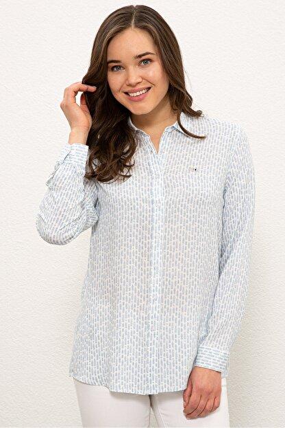 US Polo Assn Mavı Kadın Gömlek G082SZ004.000.1268266
