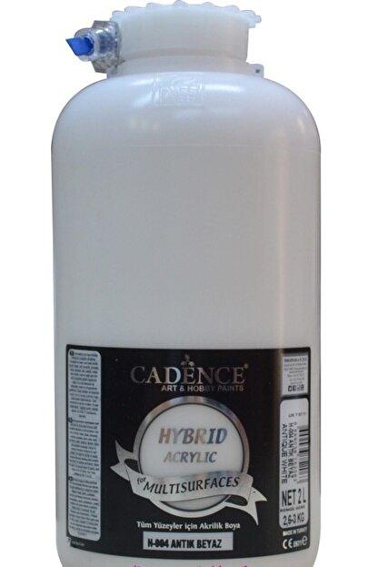 Cadence Boya H-004 Antik Beyaz 2 Litre Multısurface Hybrıd Akr.