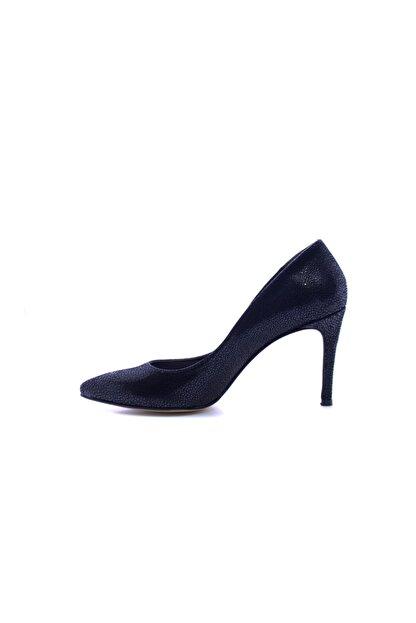 Beta Shoes Hakiki Deri Kadın Topuklu Ayakkabı Siyah