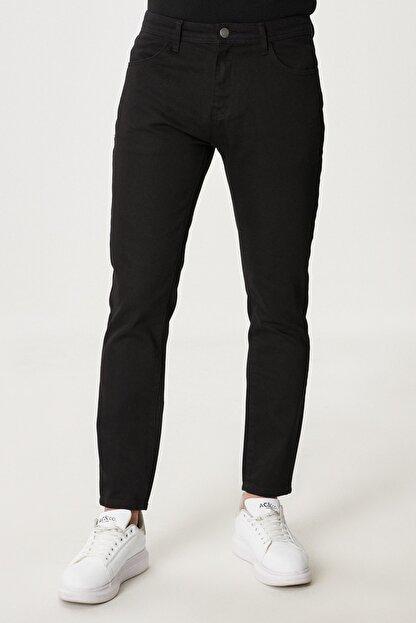 Altınyıldız Classics Erkek Siyah Slim Fit Dar Kesim Denim Jean Kot Pantolon