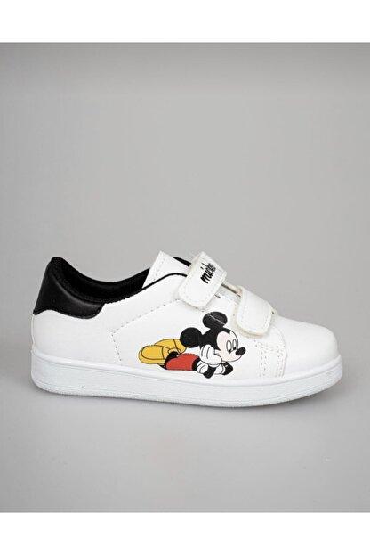 Lindelöf Unisex Çocuk Mickey Beyaz Cırtlı Günlük Smeaker