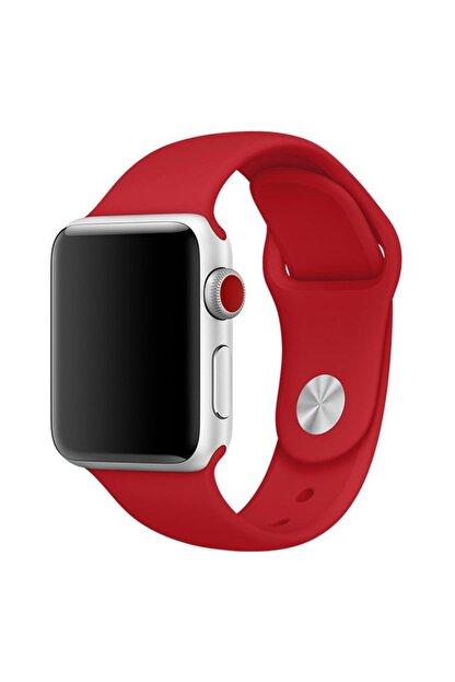 Apple Microsonic Watch Series 3 38mm Silikon Kırmızı Kordon