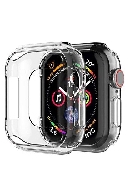 Apple Microsonic Watch Se 40mm Kılıf 360 Full Round Soft Silicone Şeffaf