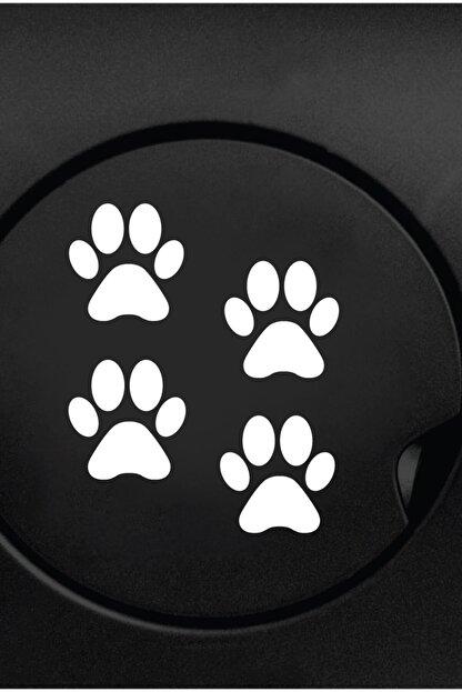 Dijitalya Patiler 4 Adet Sticker Yapıştırma | Kaput - Bagaj - Cam - Leptop | Siyah