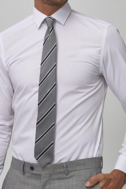 bombe Erkek Beyaz Slim Fit Klasik Gömlek