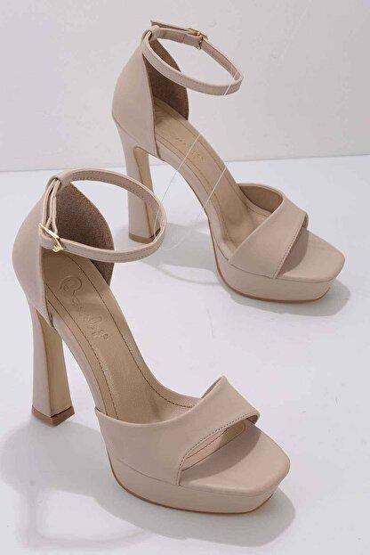Bambi Nude Kadın Abiye Ayakkabı K01925010009